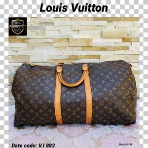 Louis Vuitton travel bag keepall 55 monogram